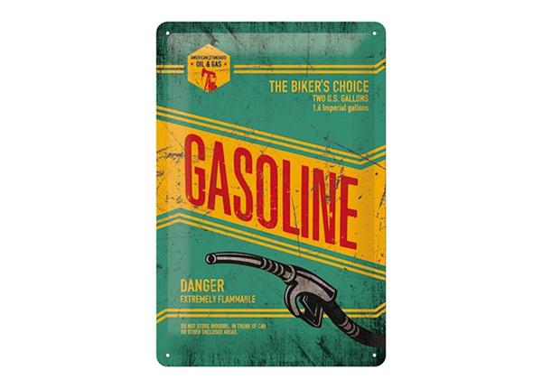 Retro metallposter Gasoline 20x30 cm SG-98162