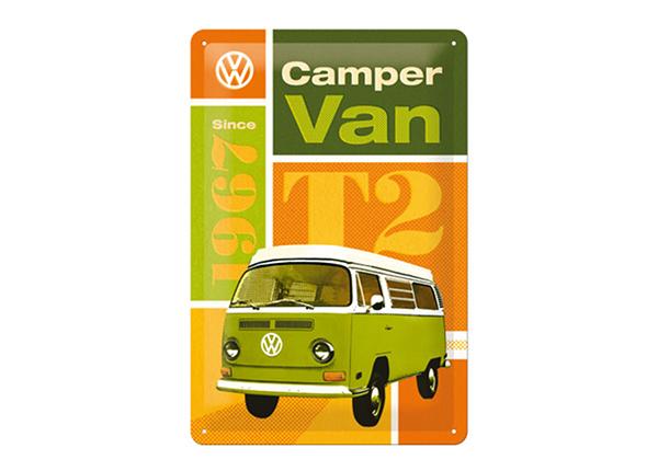 Retro metallposter WV T2 Camper Van 20x30 cm SG-98165
