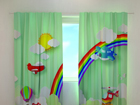 Pimendav kardin Helicopter over the rainbow 240x220 cm ED-98180