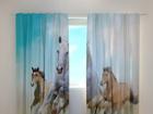 Полузатемняющая штора Horses 240x220 cm ED-98194