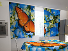 Läpinäkyvä verho BUTTERFLY ON THE BLUE 200x120 cm