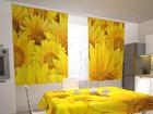Läbipaistev kardin Sunflowers in the kitchen 200x120 cm