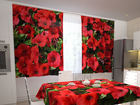 Pimennysverho RED PETUNIAS 200x120 cm ED-98333