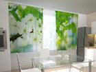 Puolipimentävä verho SPRING FLOWERS FOR THE KITCHEN 200x120 cm
