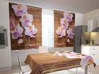 Läbipaistev kardin Orchids and tree in the kitchen 200x120 cm ED-98483
