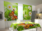Poolpimendav kardin Butterfly and camomiles 200x120 cm