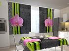 Läbipaistev kardin Orchids and bamboo 2, 200x120 cm ED-98550