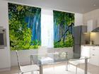Puolipimentävä verho WATERFALL BEHIND THE WINDOW 200x120 cm