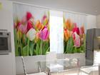 Läbipaistev kardin Tulips in the kitchen 200x120 cm ED-98568