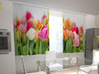 Poolpimendav kardin Tulips in the kitchen 200x120 cm