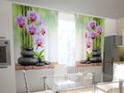 Läbipaistev kardin Orchids and stones in the kitchen 200x120 cm ED-98594