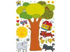 Seinätarra TREE 65x85 cm ED-98720