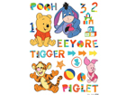 Seinakleebis Disney Winnie the Pooh and friends 65x85 cm ED-98725