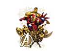 Seinakleebis Avengers 2, 65x85 cm ED-98777