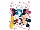 Seinakleebis Disney Minnie and Mickey's 65x85 cm