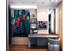 Fleece kuvatapetti SPIDERMAN'S SPIDER WEB 180x202 cm ED-99083