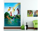 Fliis-fototapeet Disney fairies in the rainbow 180x202 cm