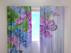 Poolpimendav kardin Lilac and butterflies 240x220 cm ED-99344