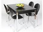 Удлиняющийся обеденный стол 80x120-187 cm, чёрный AY-99737