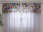 Sifonki-kuvaverho FLOWER LAMBREQUINS FANTASY 240x220 cm ED-99948