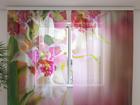 Šifoon-fotokardin Mottle Orchids 240x220 cm ED-99951