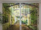 Šifoon-fotokardin Green Archway 240x220 cm ED-99961