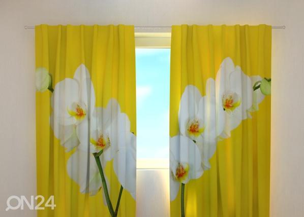 Läbipaistev kardin White orchids 240x220 cm ED-100459