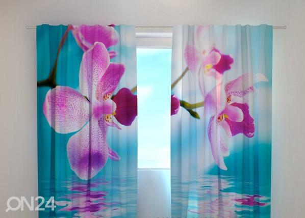 Poolpimendav kardin Skyblue orchids 240x220 cm ED-100478