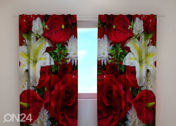 Poolpimendav kardin Roses and lilies 240x220 cm ED-100509
