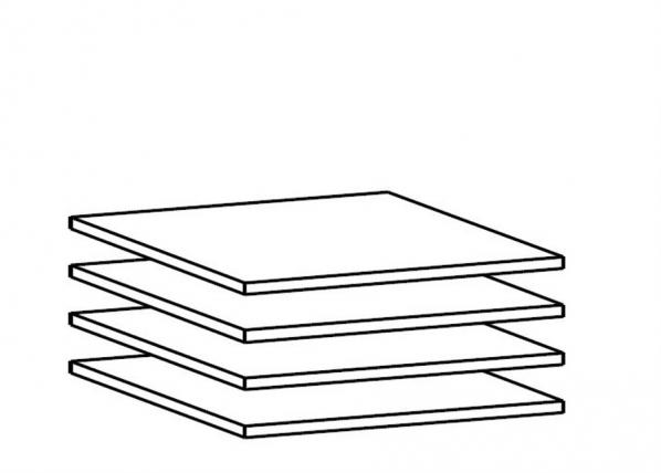 Lisähyllyt 100 cm kaappiin, 4 kpl AY-101869