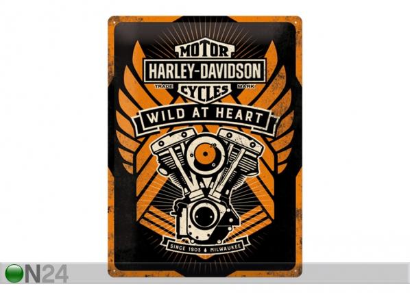 Retro metallposter Harley-Davidson Wild at Heart 30x40 cm SG-103138