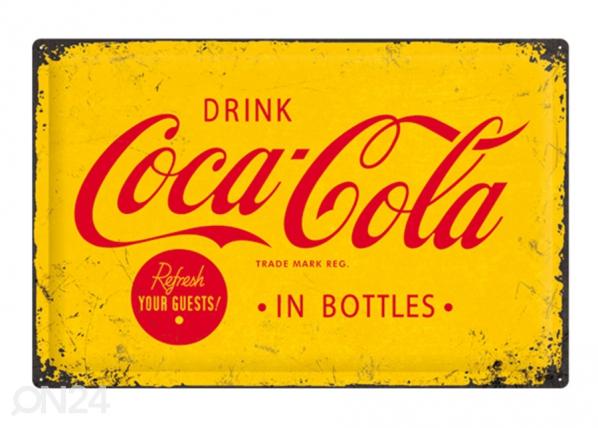 Retro metallposter Coca-Cola in bottles 40x60 cm SG-103144