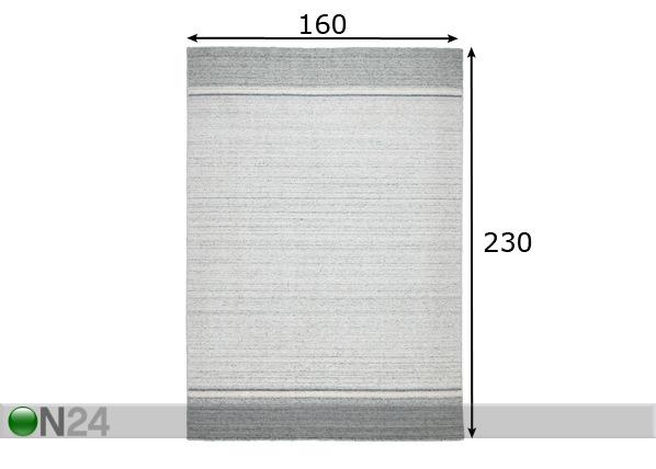 Viskoosimatto ALASKA 160x230 cm AA-103346