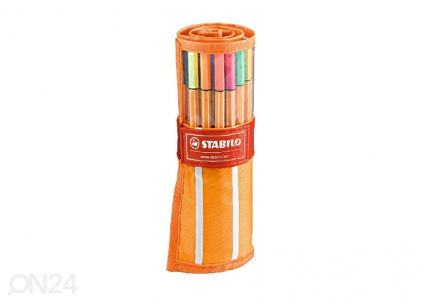 Kuitukärkikynät STABILO POINT 88, 30 väriä BB-104512