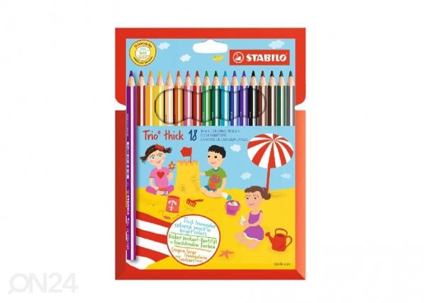 Puuvärikynät STABILO TRIO, 18 väriä BB-104608