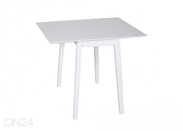Klaffipöytä AVOLA valkoinen 75x45-90 cm GO-106035