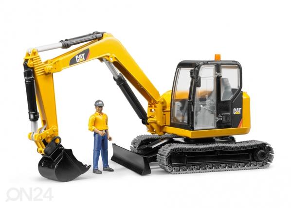 CAT ekskavaator töölisega 1:16 Bruder KL-107090