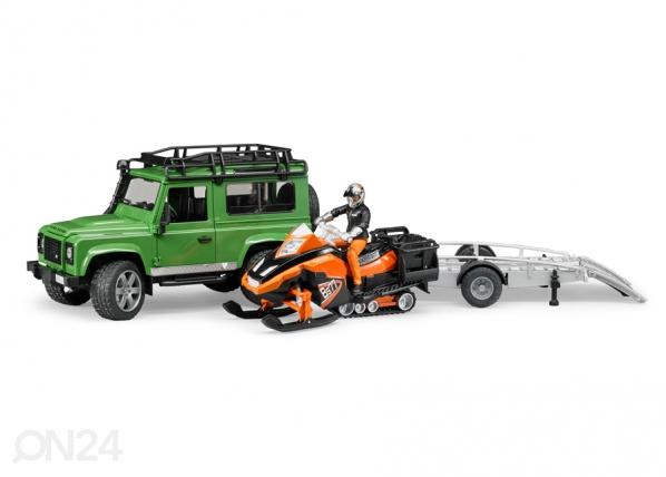 Land Rover haagise ja mootorsaaniga 1:16 Bruder KL-107113