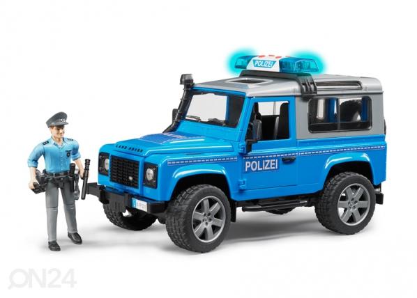 LAND ROVER DEFENDER poliisi, ääni ja äänellä 1:16 BRUDER KL-107115