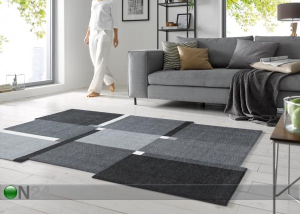 Vaip Living Squares black 70x120 cm A5-108647