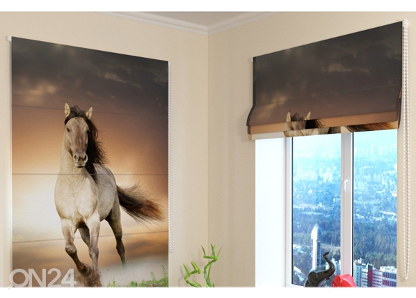 Pimentävä laskosverho HORSE ED-108858