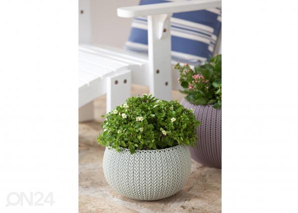 Цветочный кашпо Keter Cozies маленький, серый TE-109027