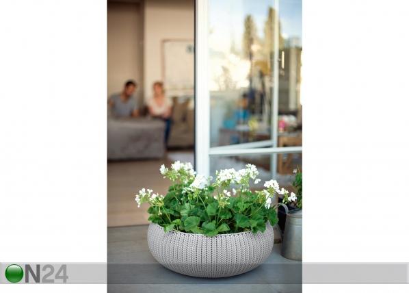 Цветочный горшок Keter Cozies Ø54 x h20,4 cm, бежевый TE-109053