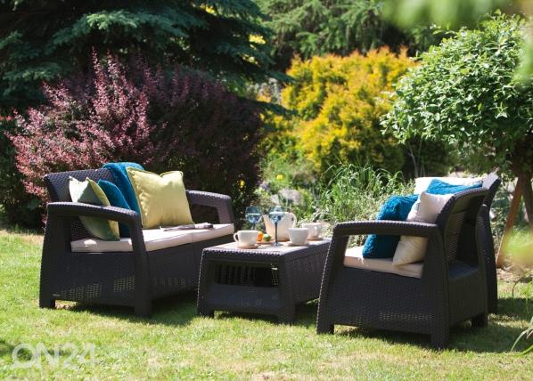 Комплект садовой мебели Keter Corfu, коричневый HU-109154