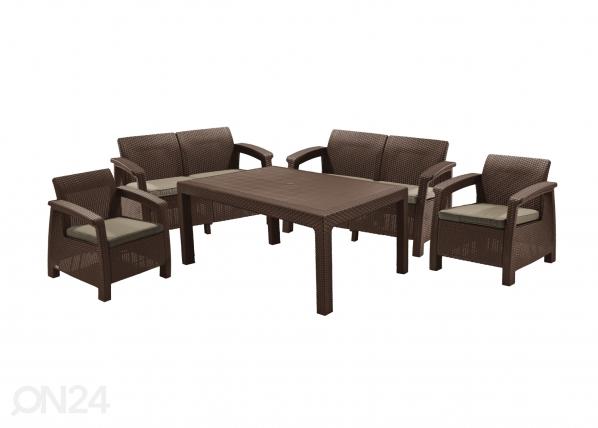 Комплект садовой мебели Keter Corfu Fiesta, коричневый TE-109326
