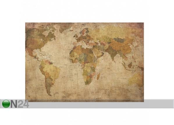 Seinapilt puidul, World Map, 50 x75 cm ED-113163