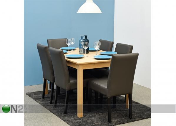 Jatkettava ruokapöytä NOVA 90-130x90 cm MA-114357
