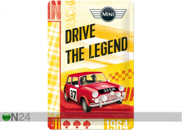 Retro metallposter Mini Drive The Legend 20x30 cm SG-114907