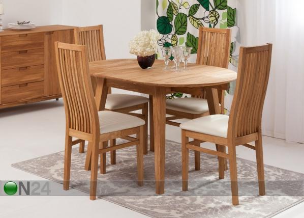 c469c8177be Tammepuust pikendatav söögilaud Basel 90-130x90 cm+ 4 tooli Sandra EC-119291