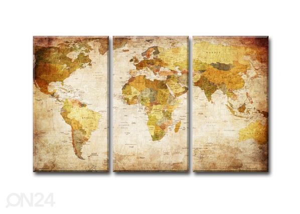 Картина из 3-частей World map 120x80 cm ED-119299